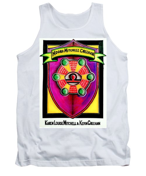 Mitchell-creehan Ancestral Healing Family Crest Tank Top by Ahonu