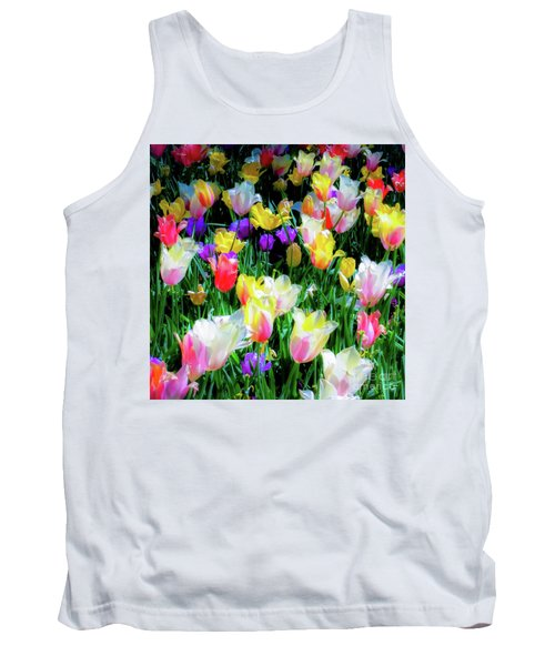 Mixed Tulips In Bloom  Tank Top