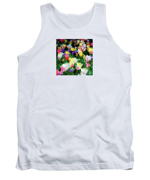 Mixed Tulips In Bloom  Tank Top