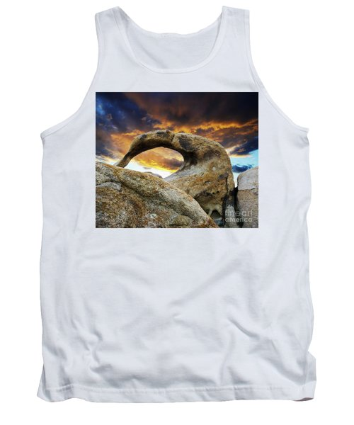 Tank Top featuring the photograph Mobious Arch California 7 by Bob Christopher