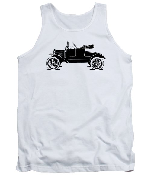 Model T Roadster Pop Art Black Tank Top