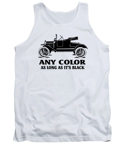 Model T Roadster Pop Art Black Slogan Tank Top