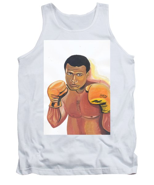 Tank Top featuring the painting Mohammed Ali by Emmanuel Baliyanga