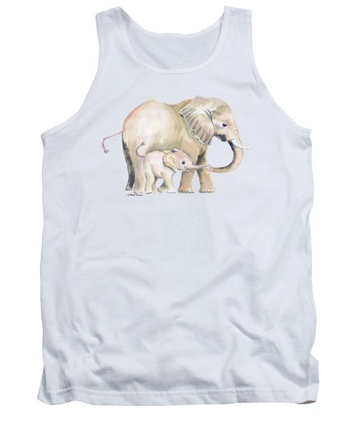Mom And Baby Elephant 2 Tank Top