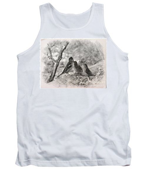 Tank Top featuring the photograph Mom, I Am Hungry by Debby Pueschel