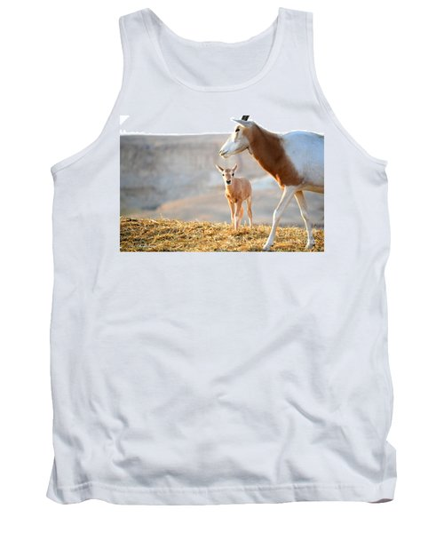 Tank Top featuring the photograph Mom's Supervision by Arik Baltinester