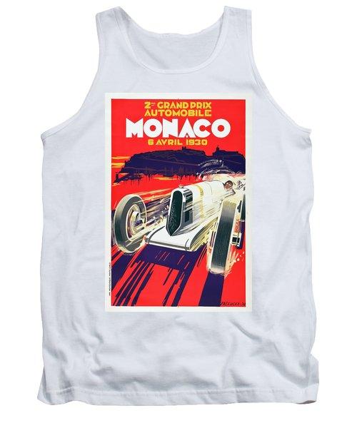 Tank Top featuring the digital art Monaco Grand Prix 1930 by Taylan Apukovska