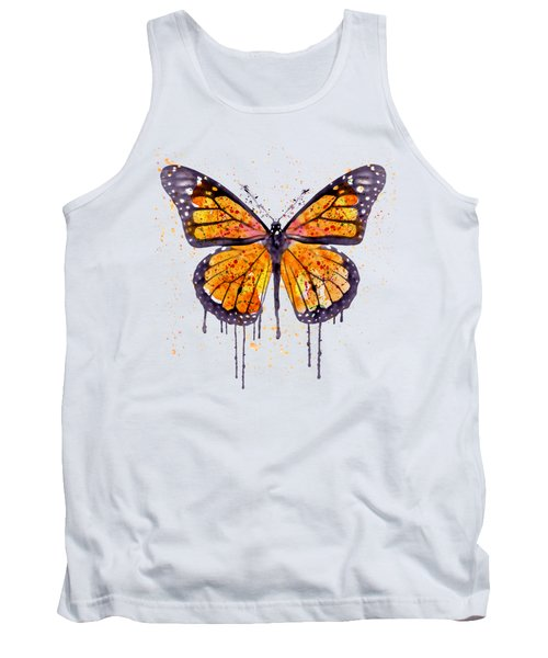 Monarch Butterfly Watercolor Tank Top