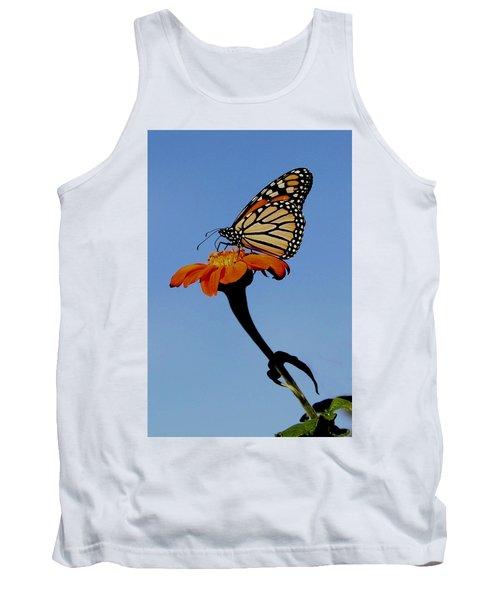 Monarch On Zinnia  Tank Top