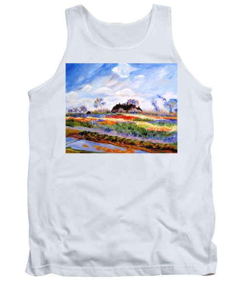 Monet's Tulips Tank Top