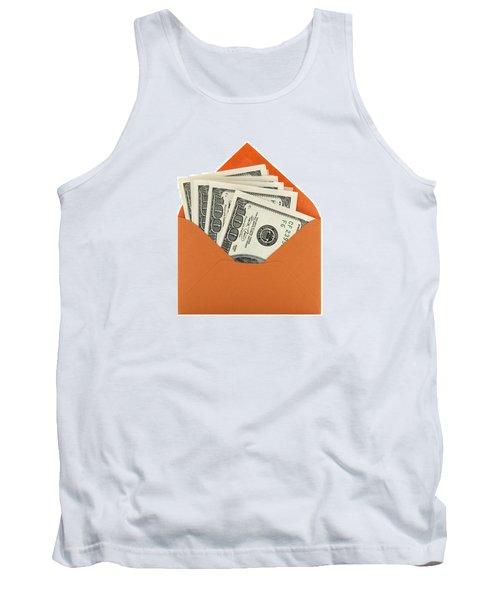 Money In An Orange Envelope Tank Top