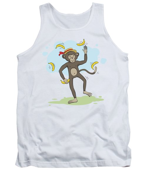 Monkey Juggling Bananas Tank Top