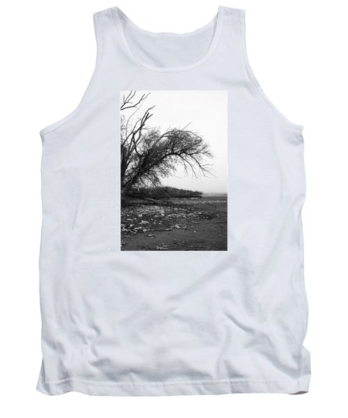 #monochrome #lake #landscape  #stausee Tank Top