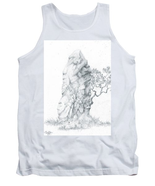 Tank Top featuring the drawing Monolith 2 by Curtiss Shaffer