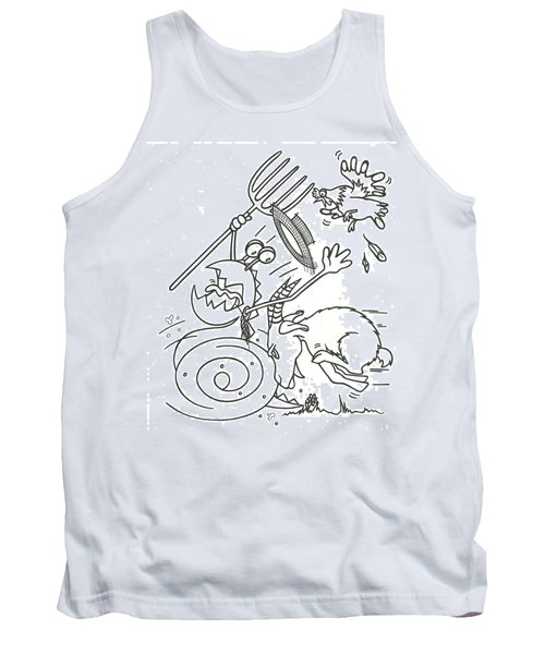 Monster Getting Chased Tank Top