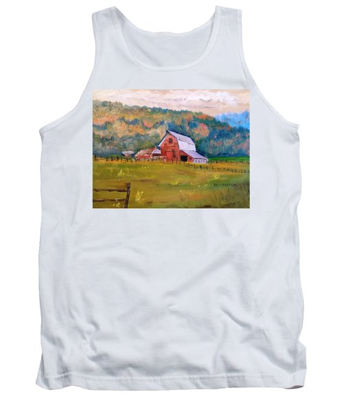 Montana Barn Tank Top by Larry Hamilton