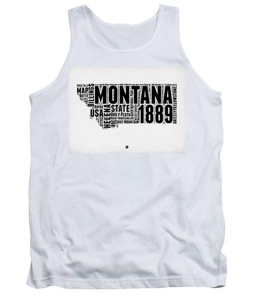 Montana Word Cloud 2 Tank Top