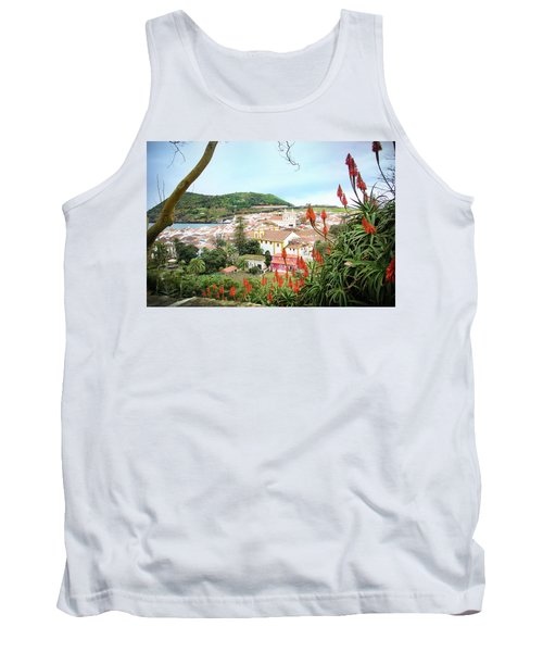 Monte Brasil And Angra Do Heroismo, Terceira Tank Top by Kelly Hazel