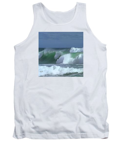 Tank Top featuring the digital art Monterey Surf by Walter Chamberlain