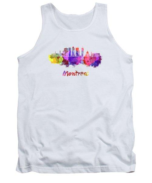 Montreal Skyline In Watercolor Splatters Tank Top
