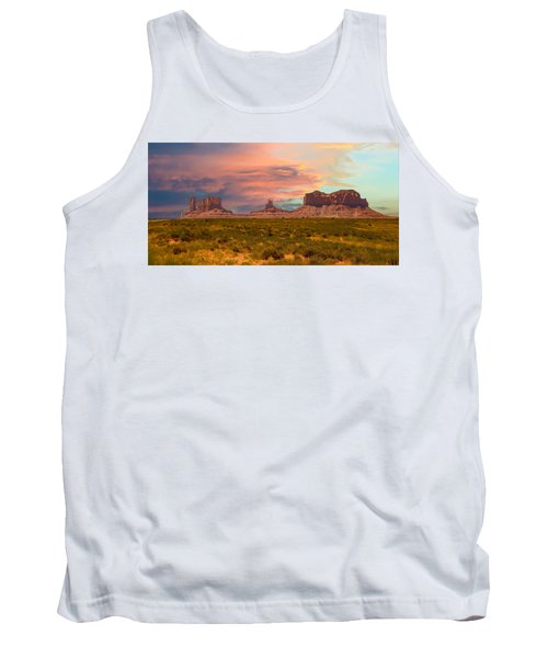 Monument Valley Landscape Vista Tank Top