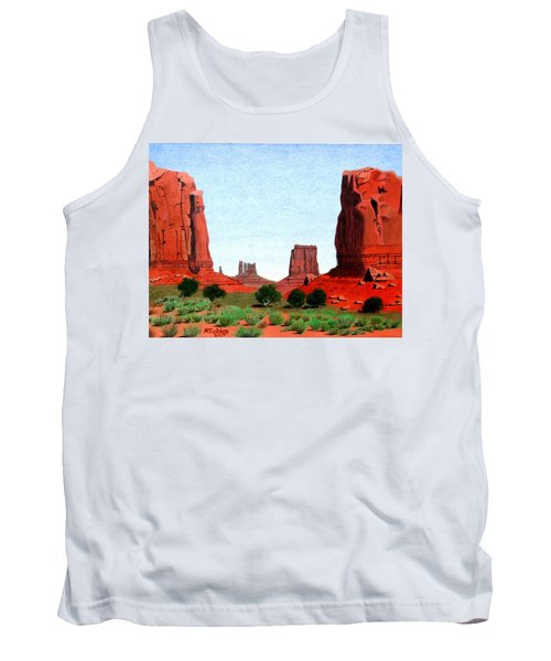Monument Valley North Window Tank Top by Mike Robles