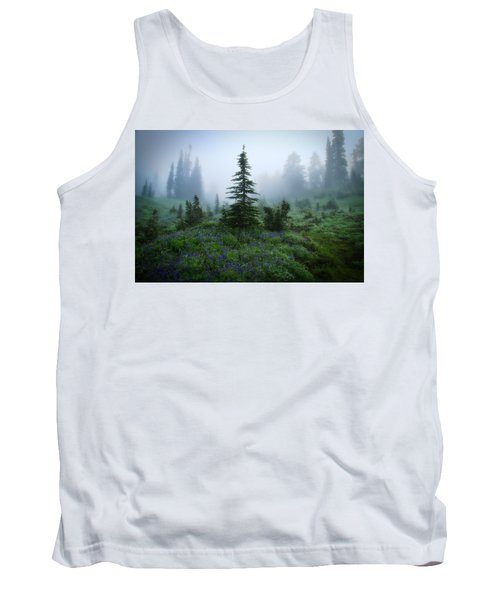Moody Myrtle Falls Trail At Mount Rainier Tank Top by Lynn Hopwood