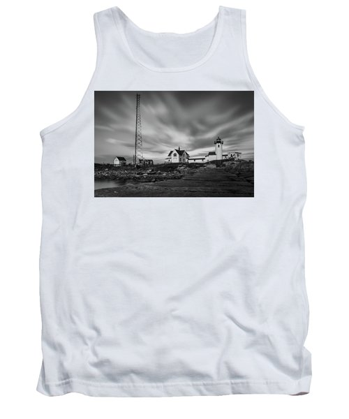 Moody Sky At Eastern Point Lighthouse Tank Top
