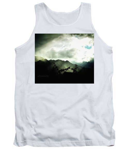 Tank Top featuring the photograph Moody Weather by Mimulux patricia no No