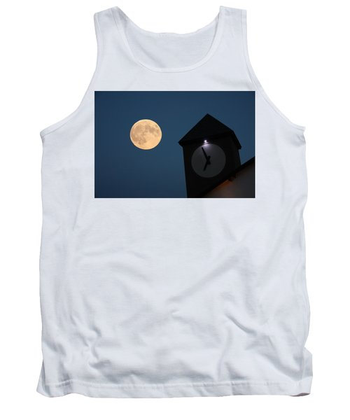 Moon And Clock Tower Tank Top