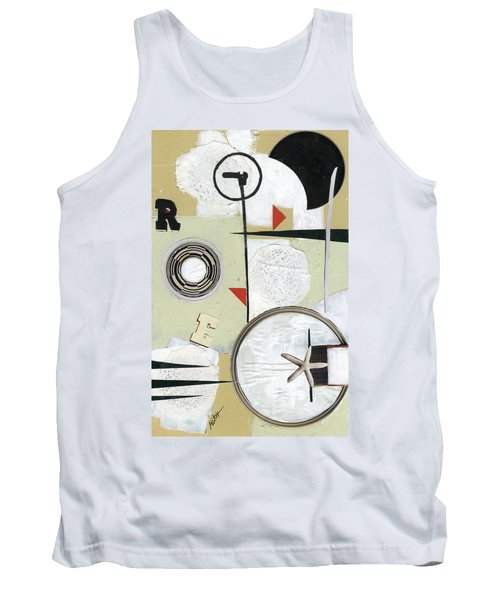 Tank Top featuring the painting Moon And Stars In Space by Michal Mitak Mahgerefteh