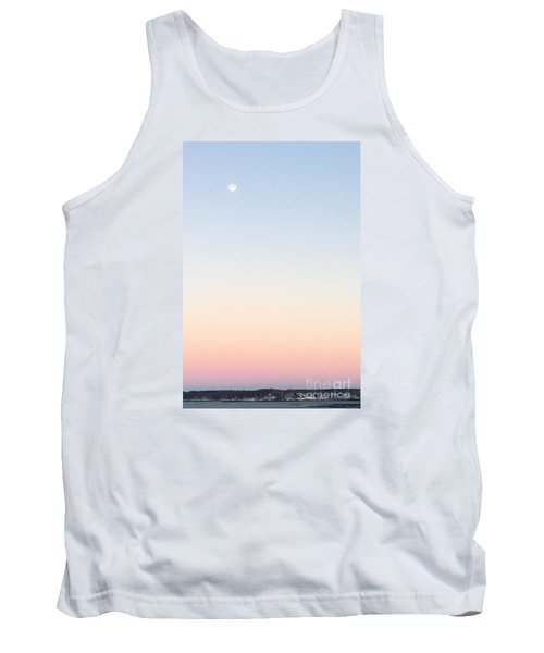 Moon In Twilight Sky Tank Top by Patricia E Sundik
