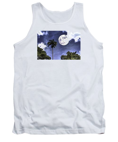 Moon Over Belize Two Tank Top by Ken Frischkorn