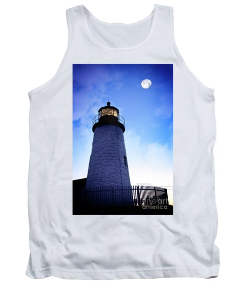 Moon Over Lighthouse Tank Top