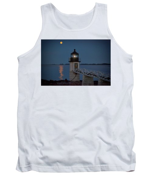 Tank Top featuring the photograph Moon Over Marshall Point by Rick Berk