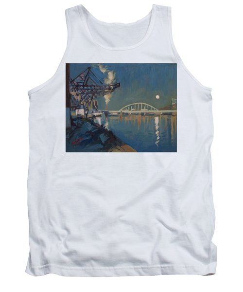 Moon Over The Railway Bridge Maastricht Tank Top