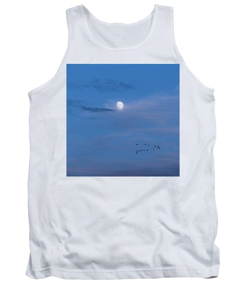 Moon Rises Geese Fly Tank Top