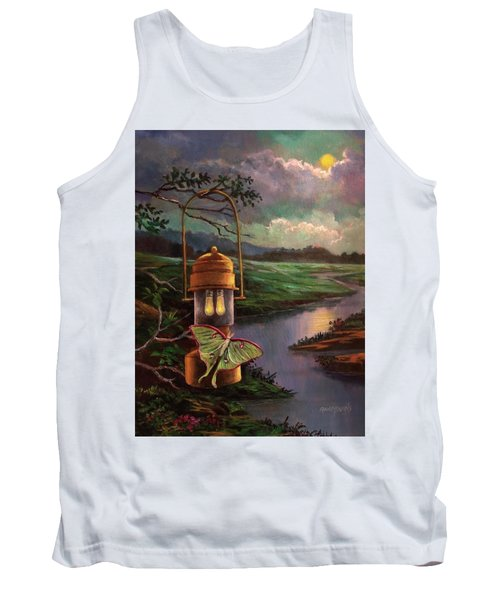 Moonlight, Silhouettes And Shadows Tank Top
