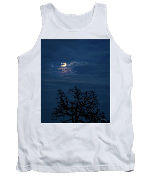 Moonlight Through A Blue Evening Sky Tank Top