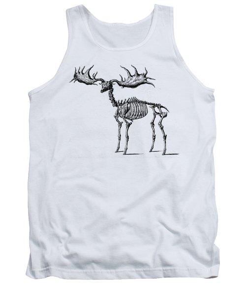 Moose Skeleton T Shirt Design Tank Top