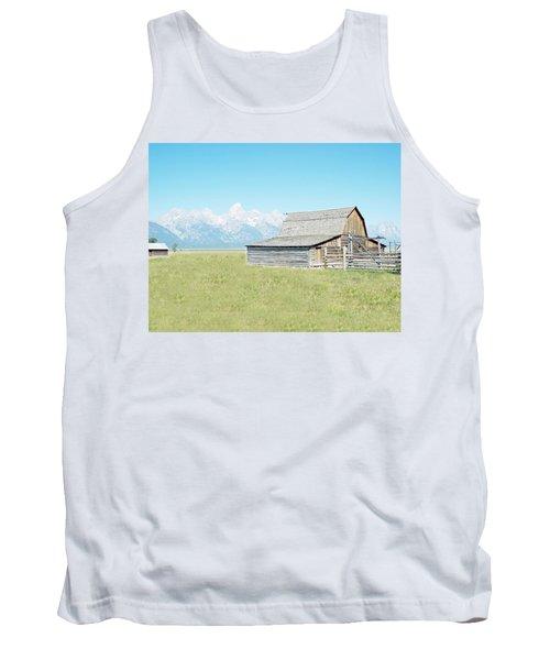 Tank Top featuring the photograph Mormon Row Barn - Grand Tetons by Joseph Hendrix