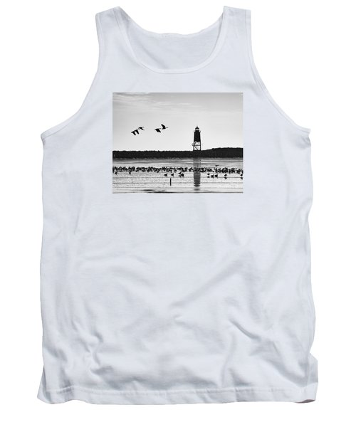 Tank Top featuring the photograph Morning At Racine Lakefront by Ricky L Jones