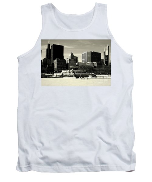 Morning Dog Walk - City Of Chicago Tank Top