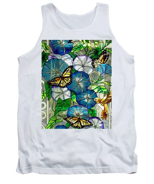Morning Glory Tank Top by Diane E Berry