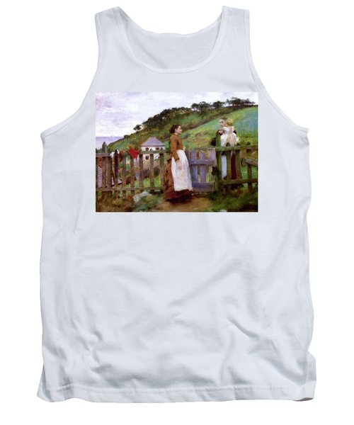 Tank Top featuring the painting Morning Gossip by Henry Scott Tuke