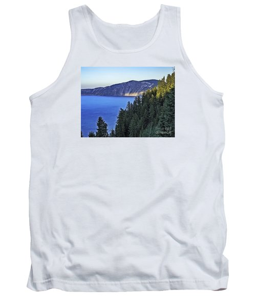 Morning Light At Crater Lake, Oregon Tank Top by Nancy Marie Ricketts
