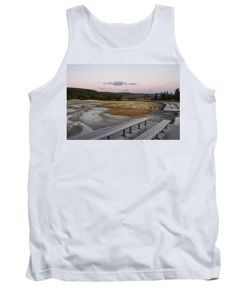 Morning Light At Old Faithful Tank Top by Shirley Mitchell