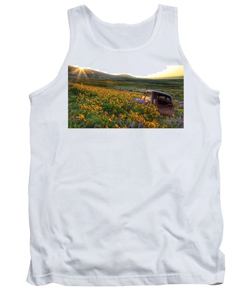 Morning Light On The Old Rusty Car Tank Top by Lynn Hopwood