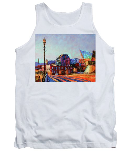 Morning Rush - The Corner Of Salem Avenue And Williamson Road In Roanoke Virginia Tank Top by Bonnie Mason