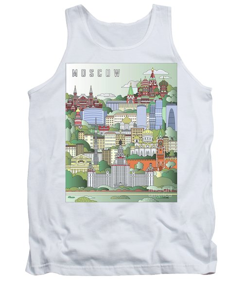 Moscow City Poster Tank Top by Pablo Romero